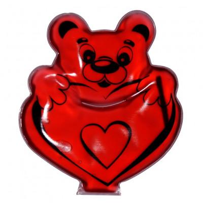 Солевая грелка Мишка с сердцем