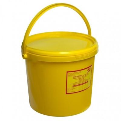 Емкость-контейнер д/сбора органических отходов - V-6,0 л Класс Б (желтый)