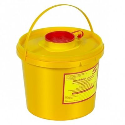 """Емкость-контейнер д/сбора острого инструментария 2,0 л. Класс """"Б"""" (желтый)"""