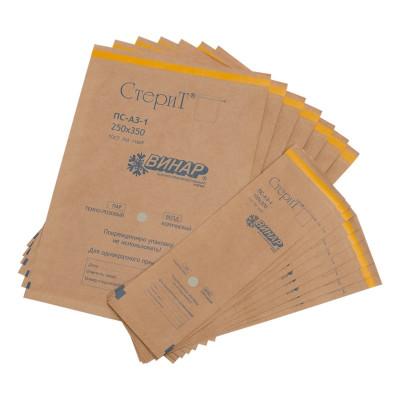 Крафт-пакеты для стерилизации 100х320мм-1шт