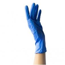 Перчатки голубые (нитриловые, гладкме)