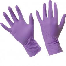 Перчатки нитриловые неопудренные (Сирень)