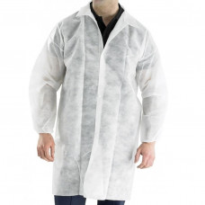 Одноразовый халат на кнопках