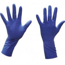 Перчатки т.синие (латекс, текст)